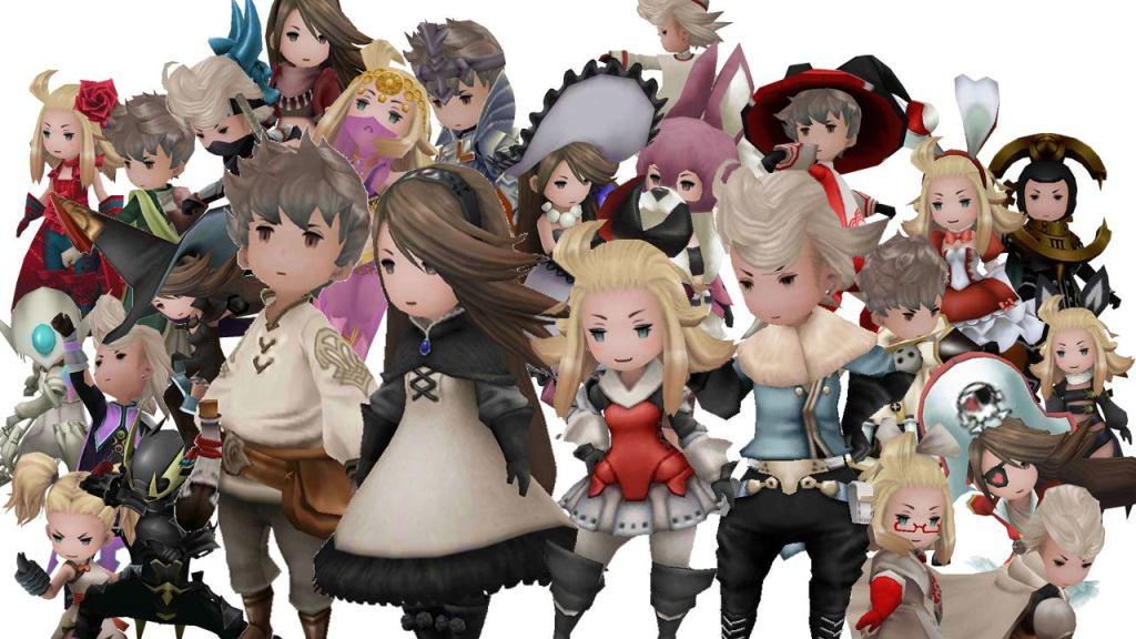 Bravely Default 3DS Agnes Tiz Edea Ringabel Classes Jobs Suits