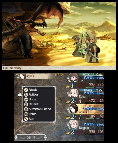Bravely Default 3DS Agnes Tiz Edea Ringabel Combat