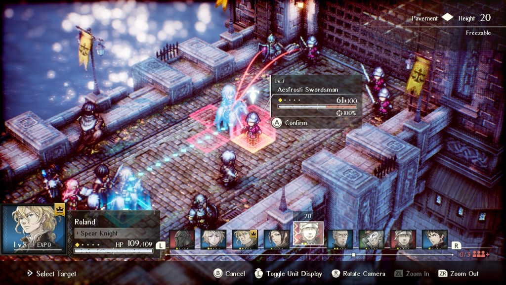 Project Triangle Strategy Nintendo Switch Final Fantasy Tactics Combat