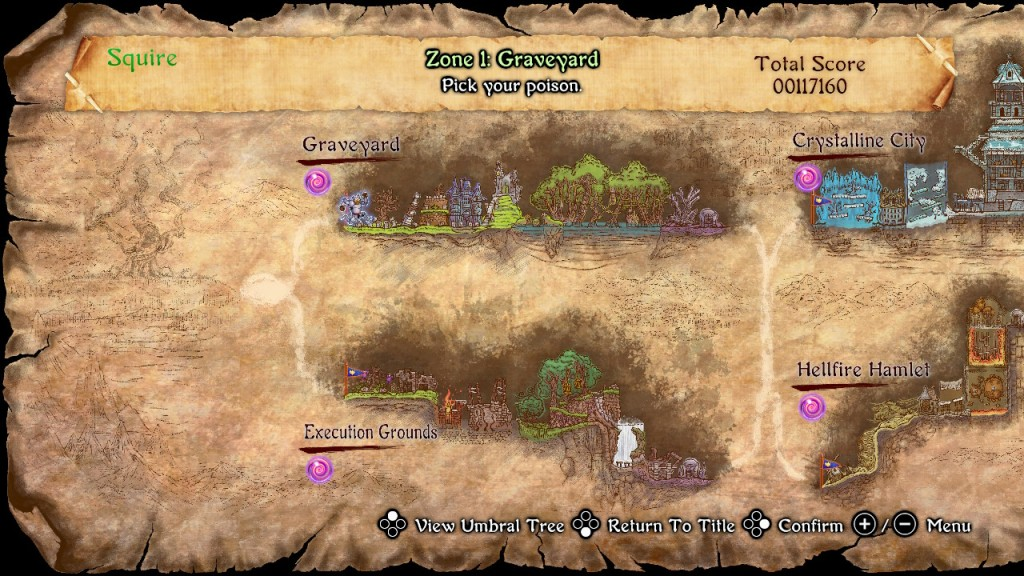 Ghosts and Goblins Resurrection PS4 PS5 Nintendo Switch Xbox Map