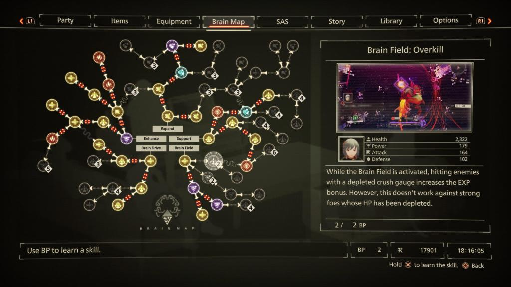 Scarlet Nexus PS5 PlayStation 5 Anime Visuals Combat Review Brain Map Abilities