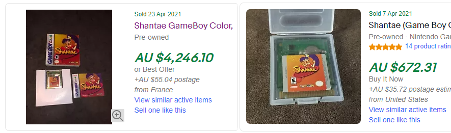 Shantae Gameboy Color Colour Prices