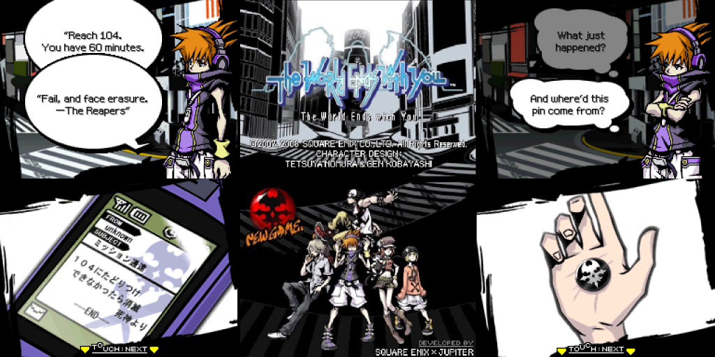 The World Ends With You DS Screenshots Title Screen Neku
