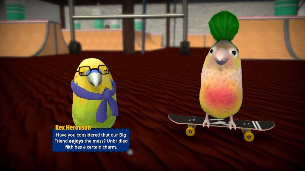 Skatebird nintendo Switch Xbox PC Playstation bird birb graphics story